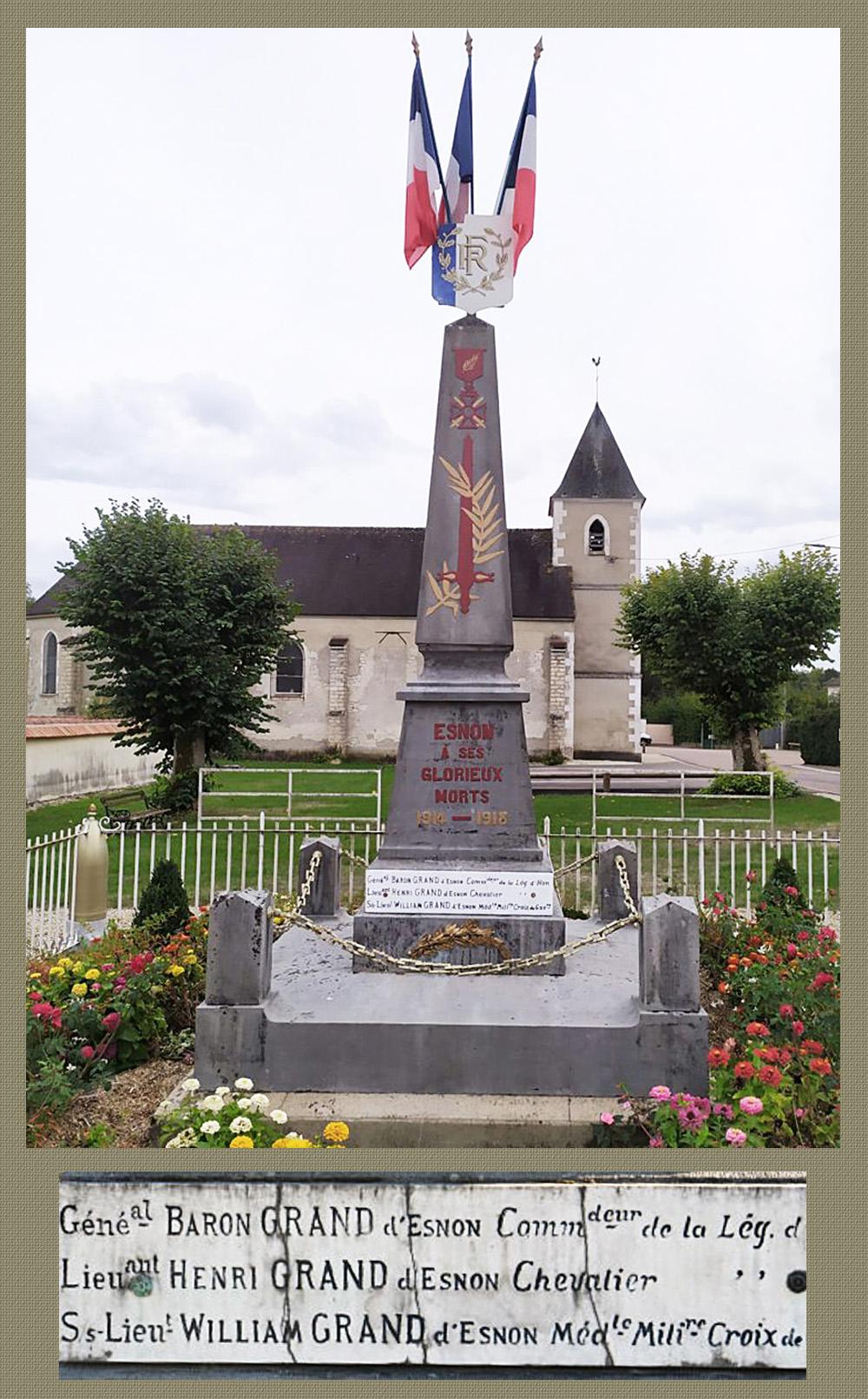 asu esnon le monument aux morts