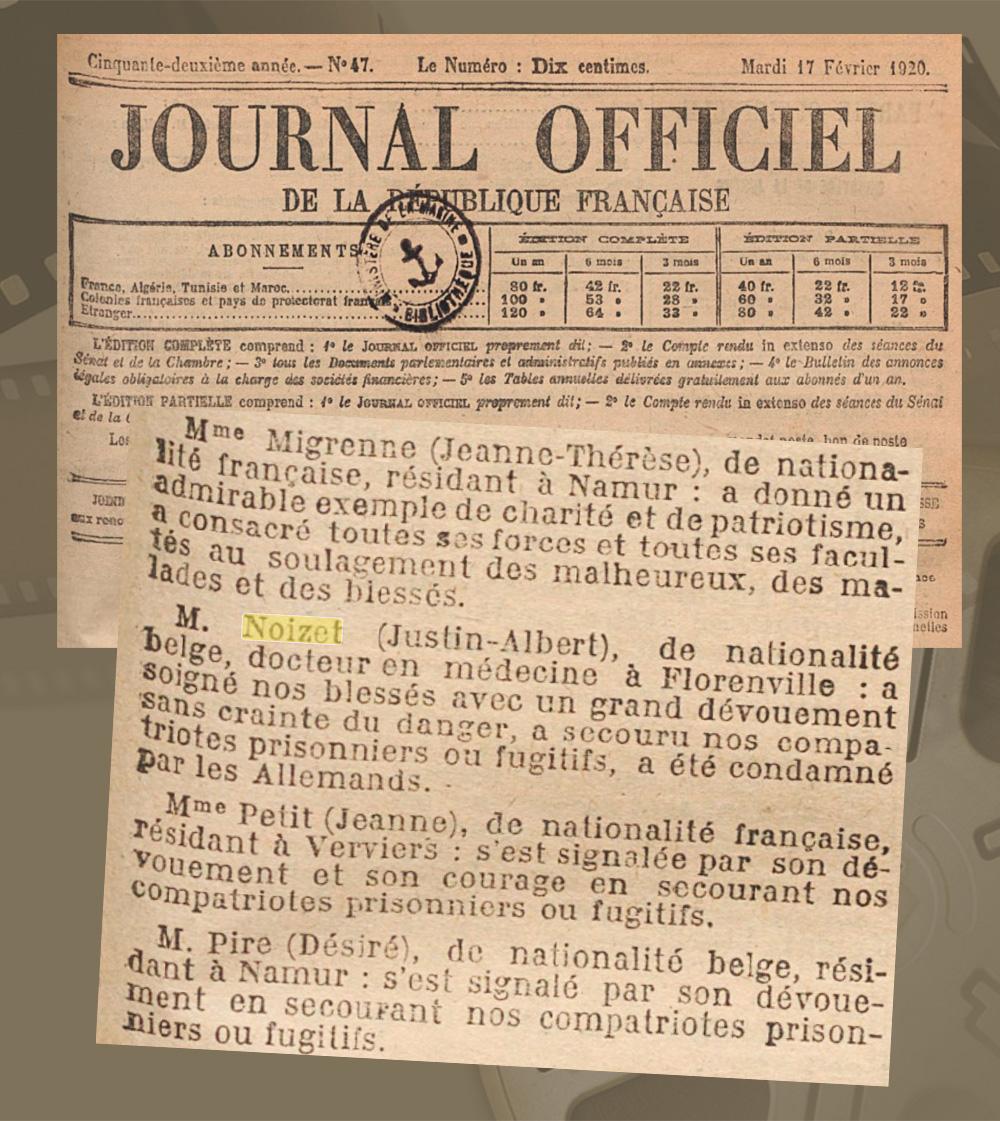 asu extrait journal officiel RF 17 Fév 1920