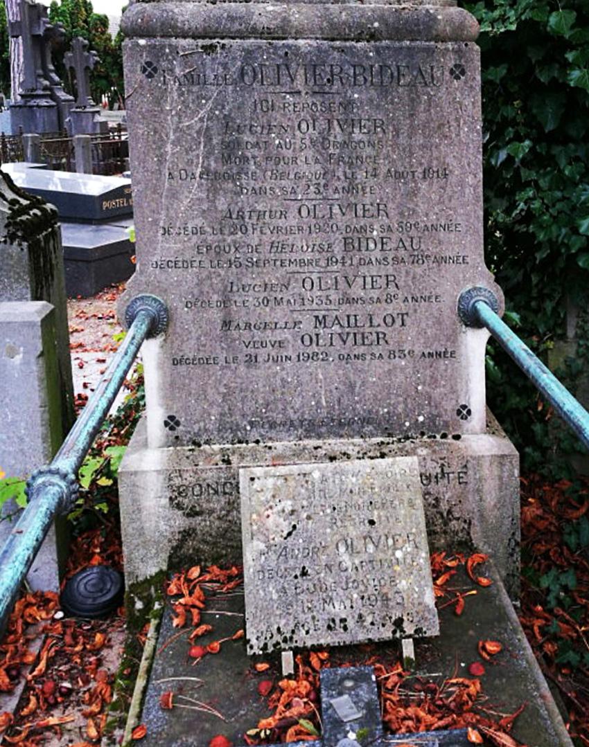 asu cimetière Amiens tombe olivier