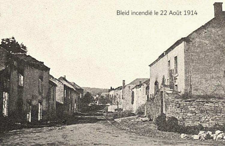asu village de Bleid brûlé le 22 août 14