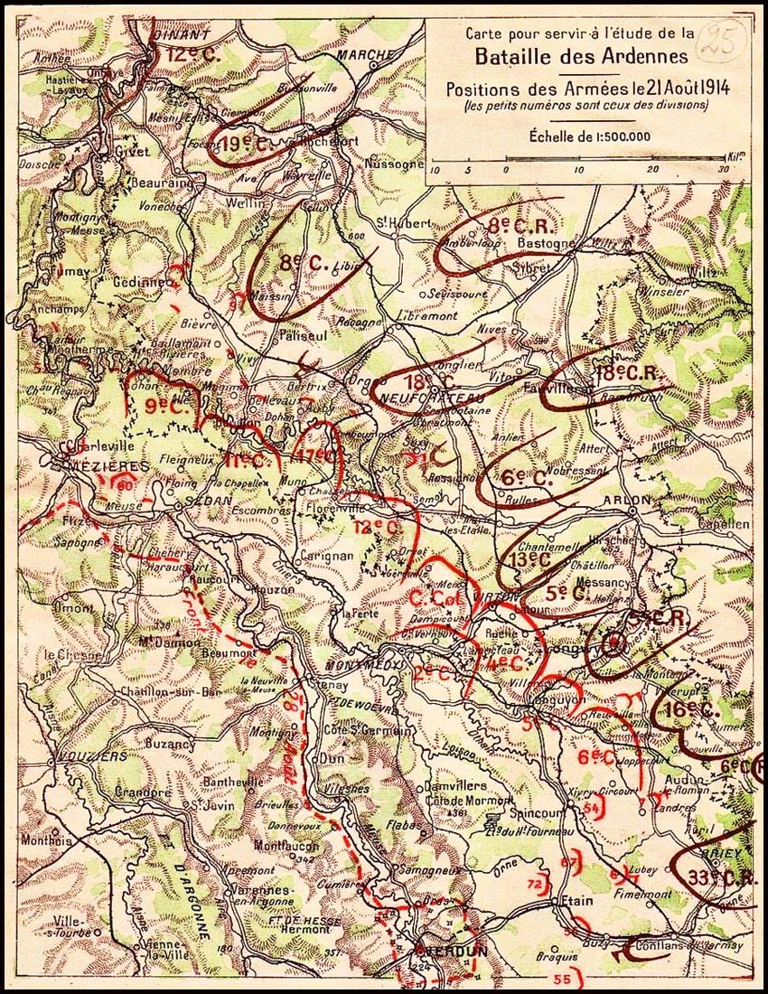 site so be bataille des ardennes 1914